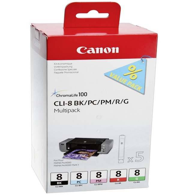 Картридж Canon CLI-8 BK+PC+PM+R+G набор  (5 шт)