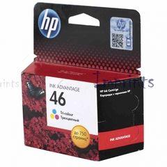 Картридж HP CZ638AE, № 46 многоцветный (2 и >) для принтера HP оригинальный, цена, характеристики